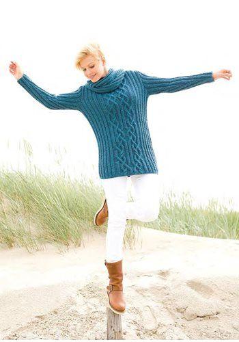 Lana Grossa Sweater with Cowl ALTA MODA CASHMERE - FILATI Handstrick ... 1c28f43cb7