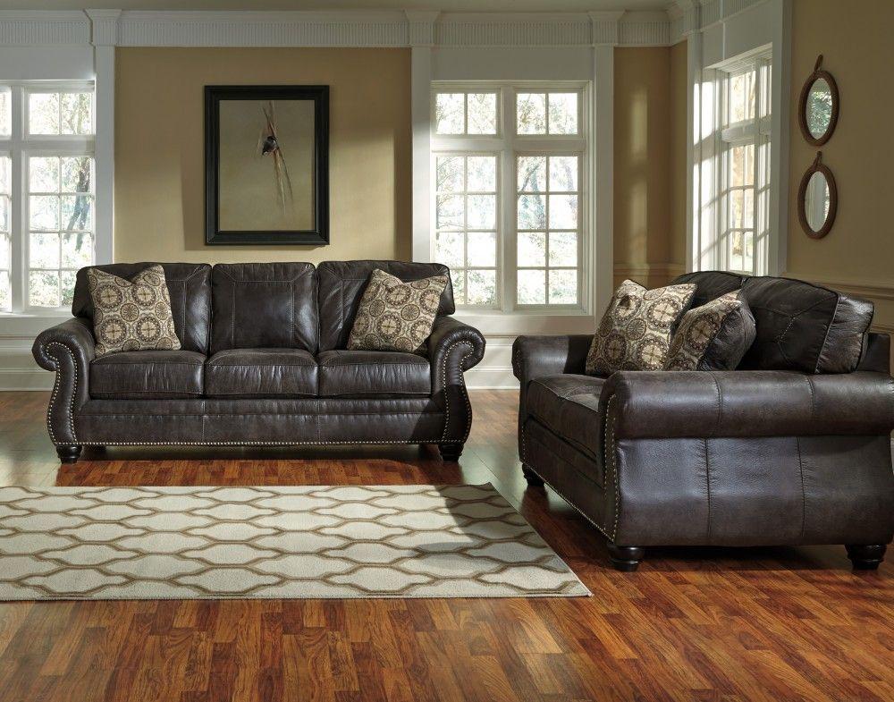 Breville Charcoal Sofa & Loveseat | Living room sets