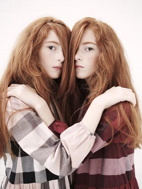 Simply excellent redhead twins hugging