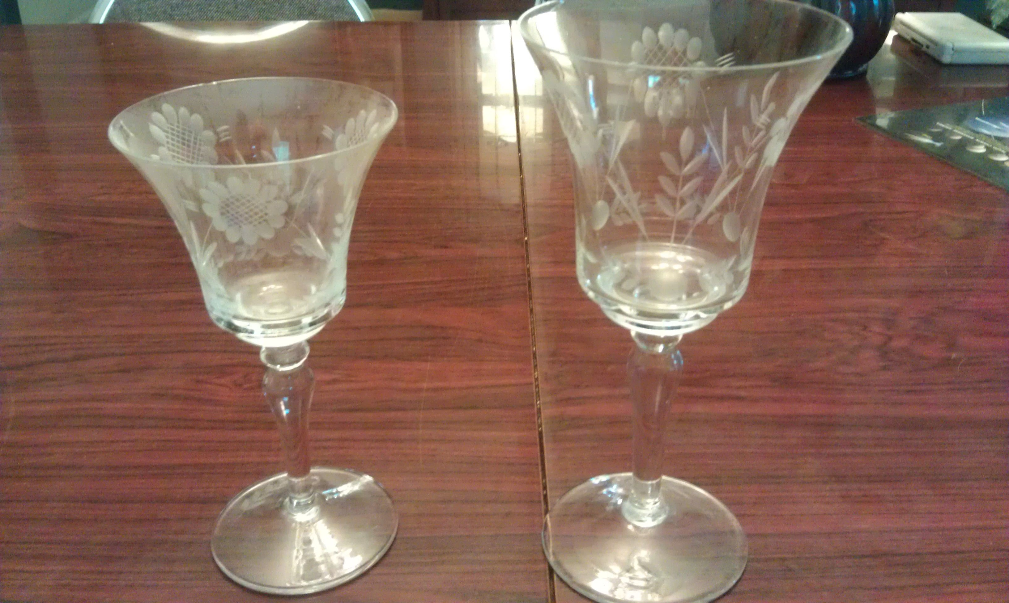 Etched Crystal Stemware Wheat