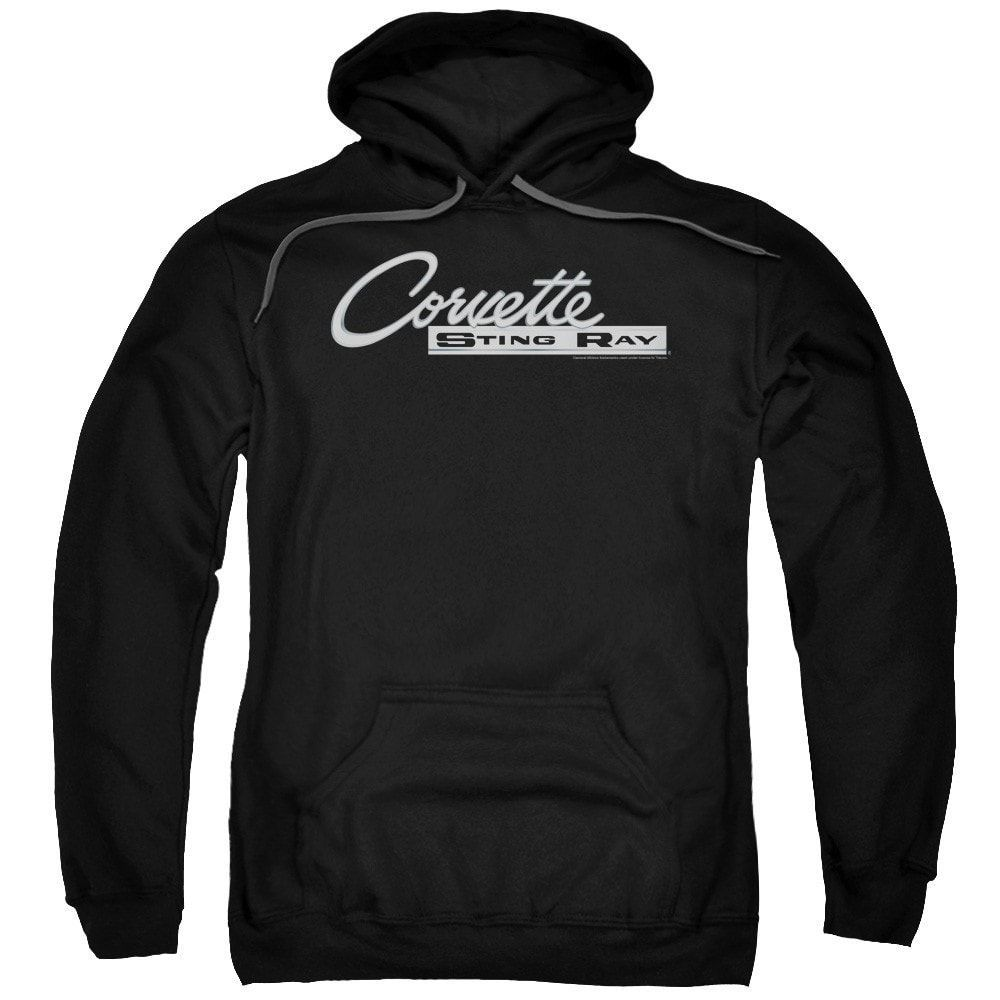 Chevy - Chrome Stingray Logo Adult Pull-Over Hoodie