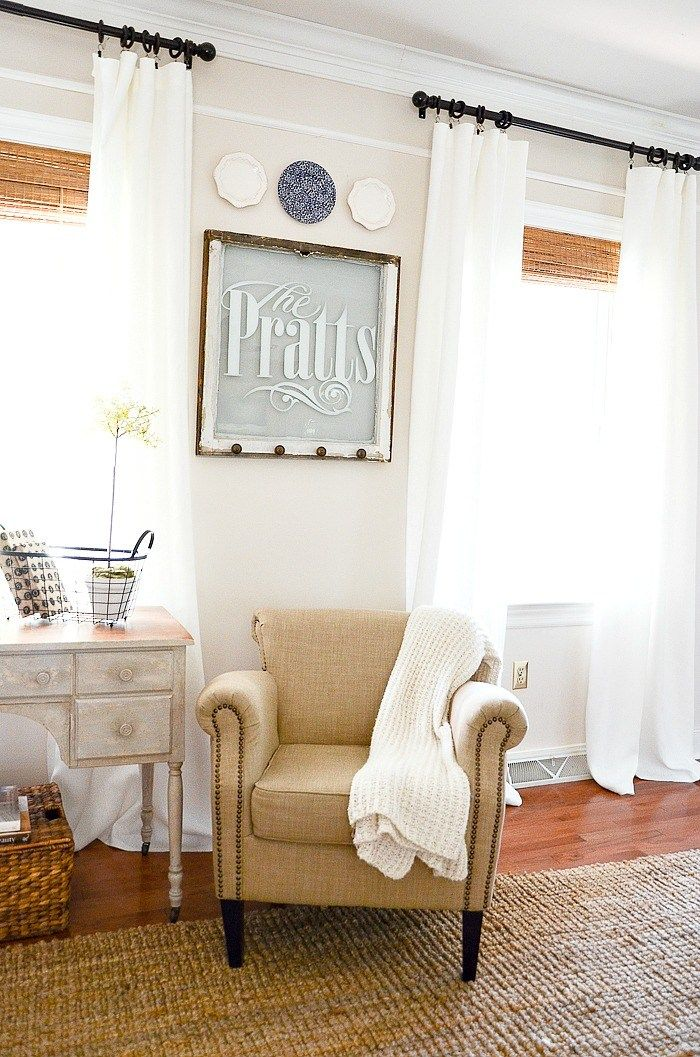 SUPER EASY NOSEW CURTAIN DIY AND 150.00 GIVEAWAY Diy