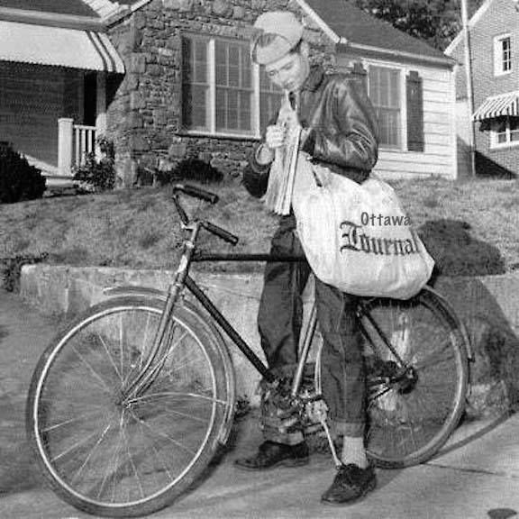 Newspaper Delivery Was Usually The First Job For Boys Newspaper Delivery Sweet Memories The Good Old Days