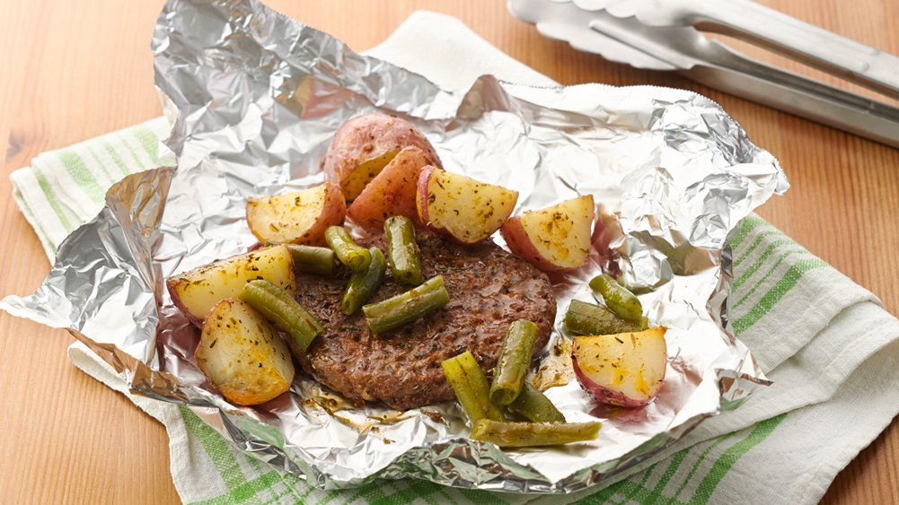 Burger and Potato foil