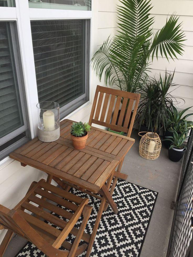 50 idées populaires de décoration balcon appartement automne ,  #appartement #... #wohnungbalkondekoration