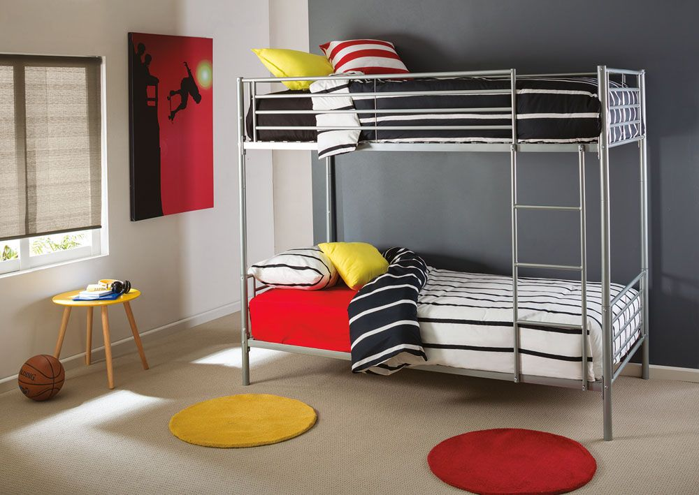Kids can easily climb in and out of the bottom bunk, sit