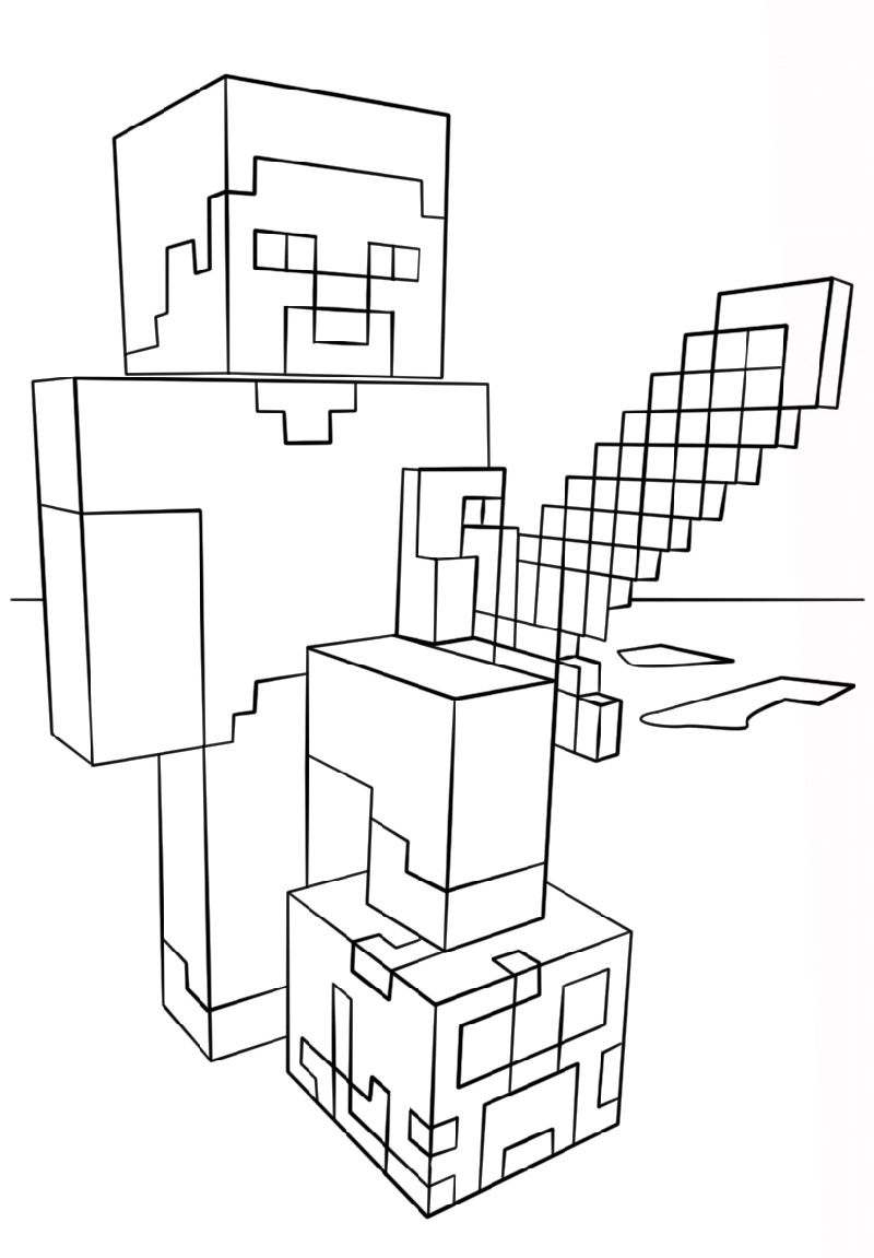 Minecraft Printable Coloring Pages | K5 Worksheets in 2020 ...
