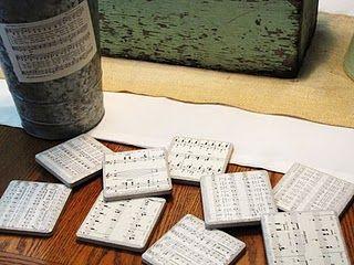 Decorative 4X4 Ceramic Tiles Simple Coastersceramic Tiles 4X4 Sheet Music And Mod Podge  My Review