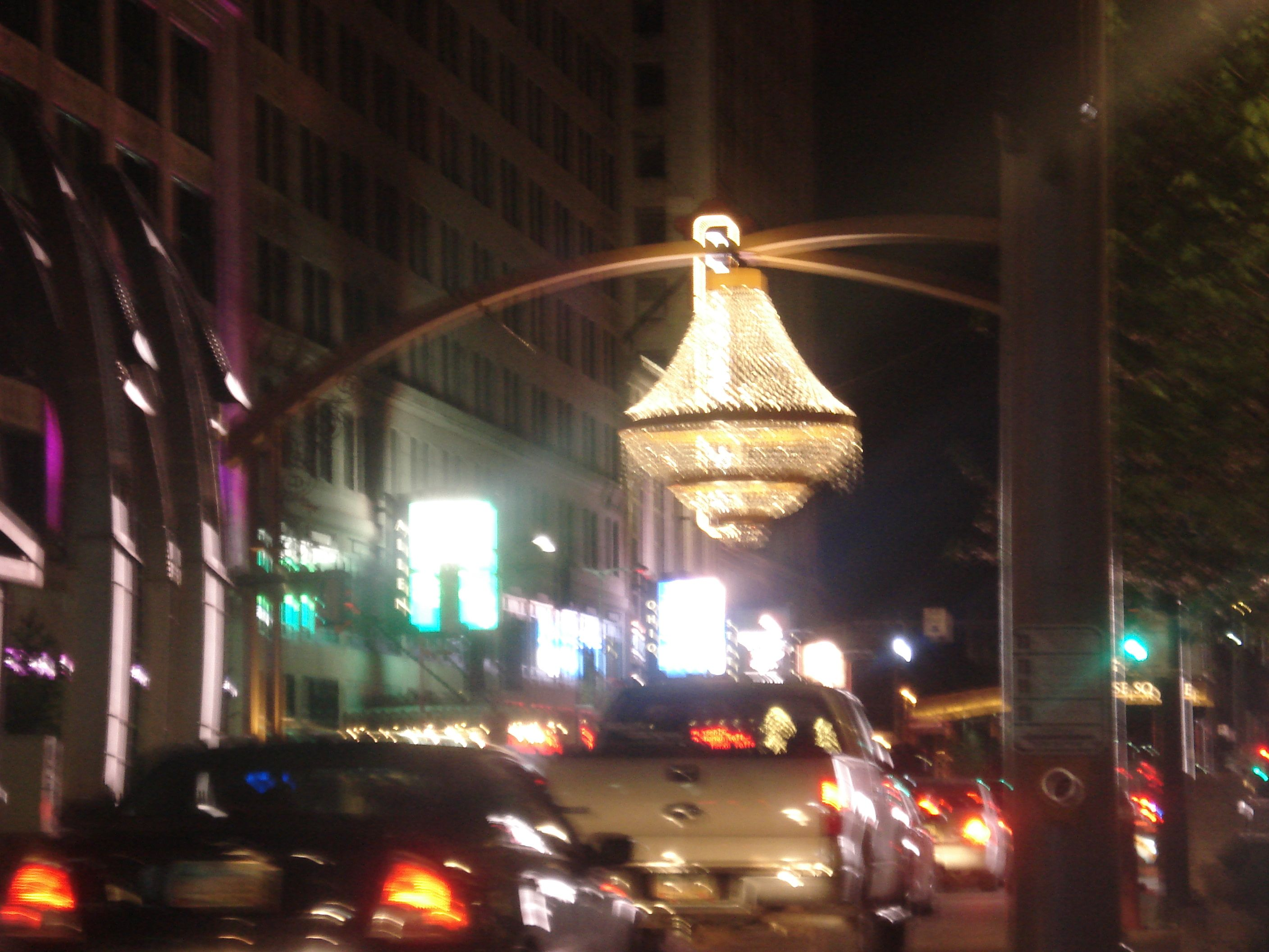 I am proud to say that the world s largest outdoor chandelier is