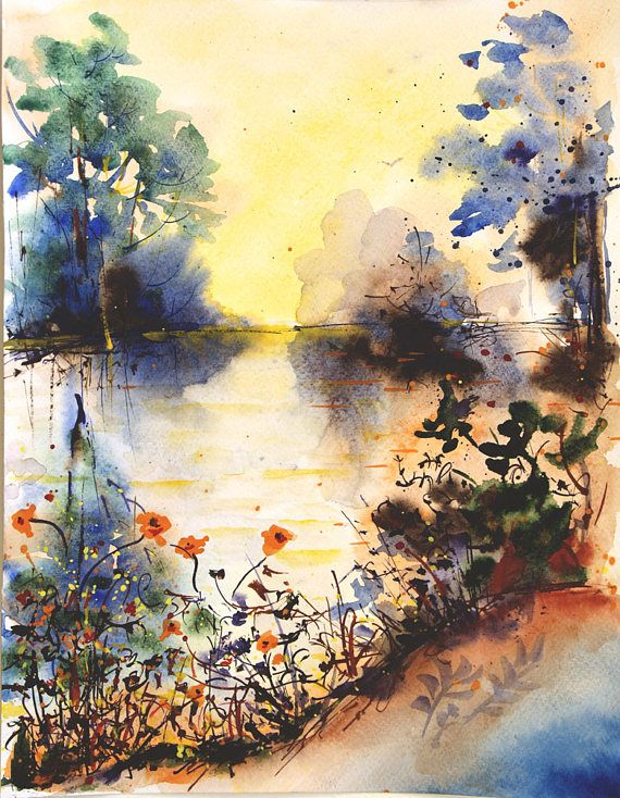 Original Watercolor Painting Watercolor Nature Painting