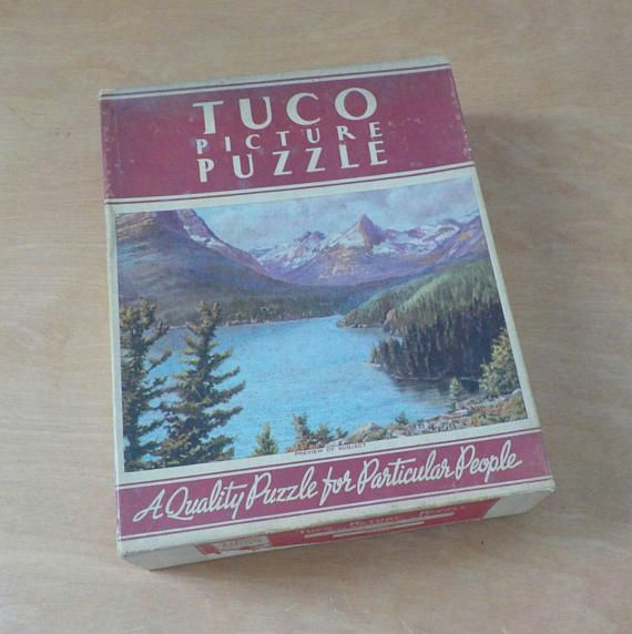 Vintage Tuco Picture Puzzle  Beautiful Lake St. Mary
