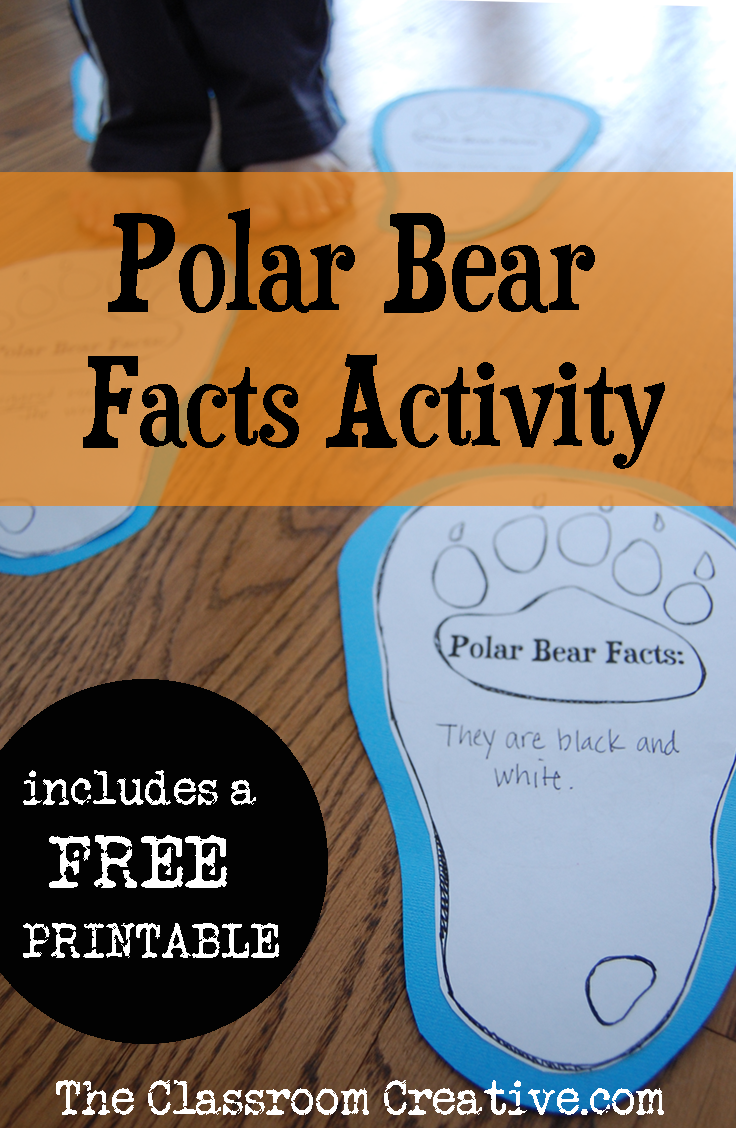 Gather your polar bear facts with this activity! #winter #polarbear ...