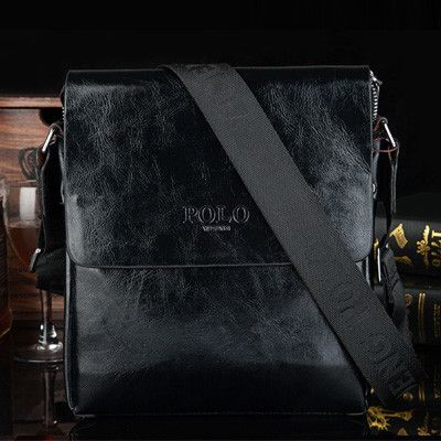 VICUNA POLO High Quality Glossy Leather Men Messenger Bag Leisure Business Men's Shoulder Bag Simple Design Solid Leather Bag