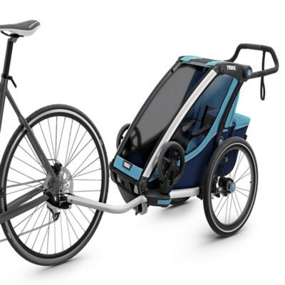 Thule Chariot 1 Collapsible Stroller In Blue Thule Chariot