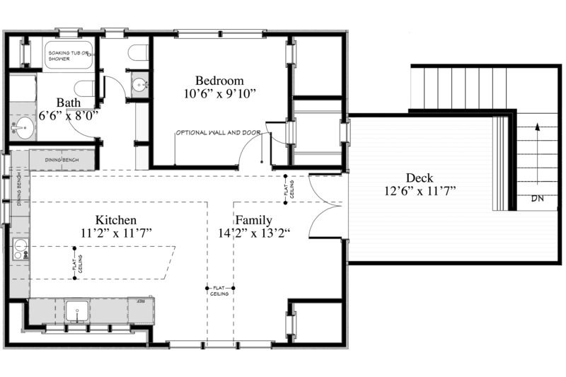 Cottage Style House Plan 1 Beds 1 Baths 600 Sq Ft Plan 917 10