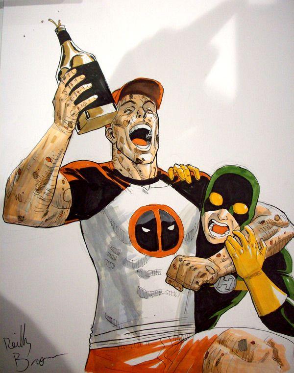 Deadpool, Bob & Jack Daniels by ReillyBrown on deviantART