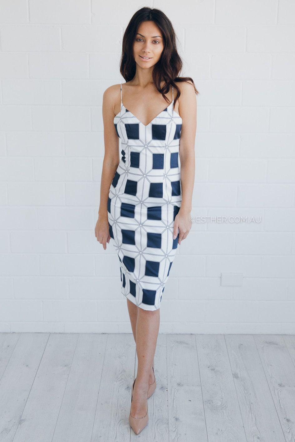 talulah paramount strap dress - print   Esther clothing Australia ...