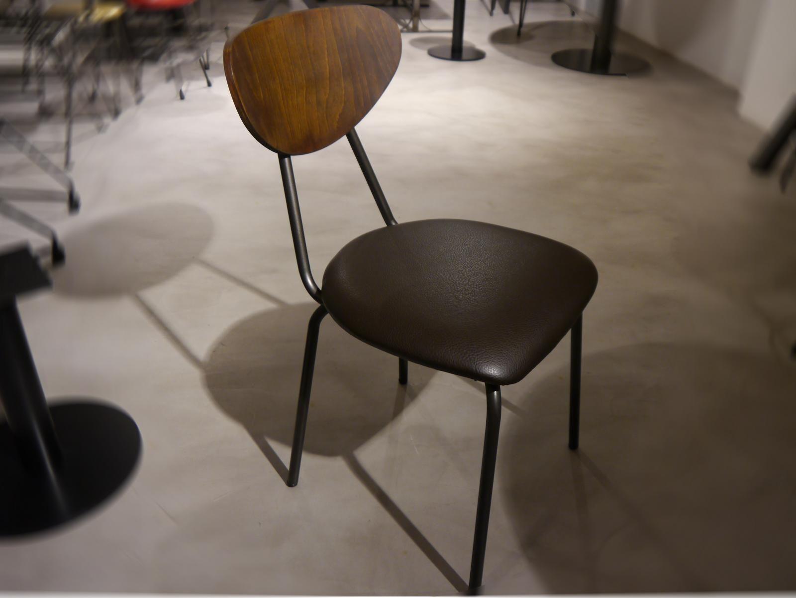 silla col3gio acero y tapizada