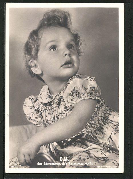 old postcard: AK Portrait Edda Göring, Töchterchen des Reichsmarschalls Hermann Göring