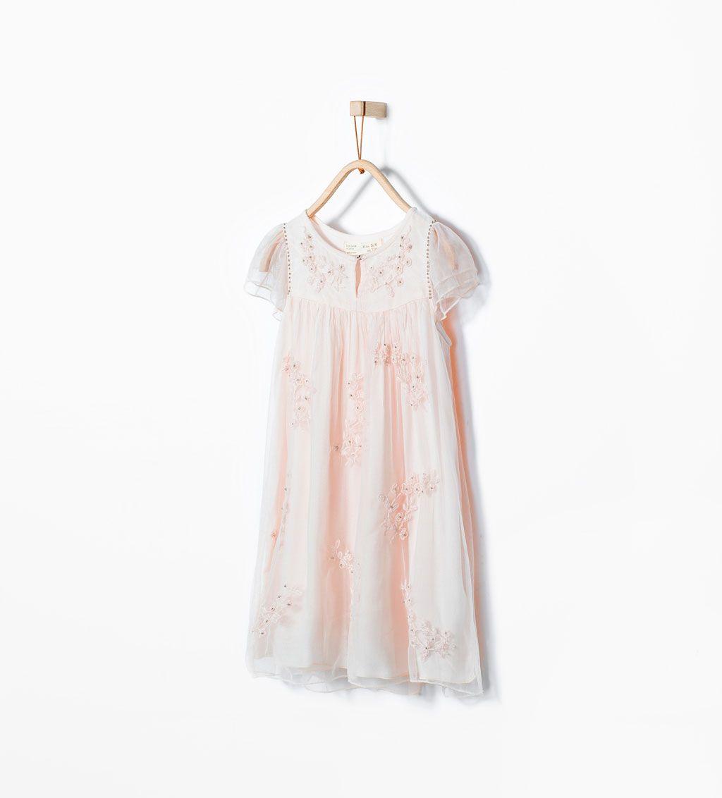 25c55604fd4 ZARA - ΠΑΙΔΙΚΑ - Φόρεμα από κεντημένο τούλι 6428/602 25,95   my girl