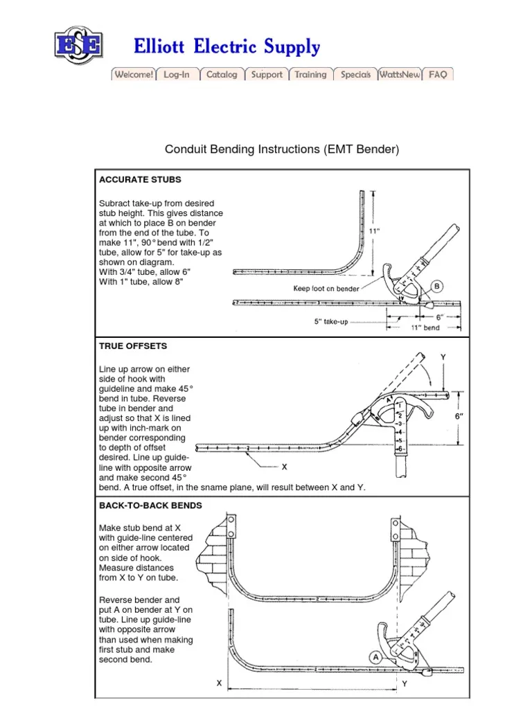 conduit bending chart - Google Search | Conduit bending ...