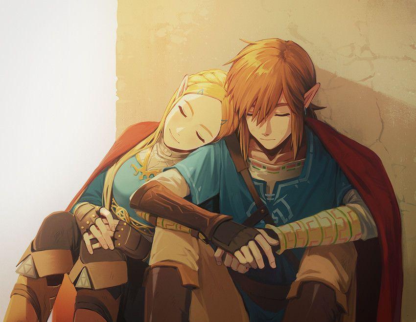 Link And Zelda Sleeping Together Botw Legend Of Zelda