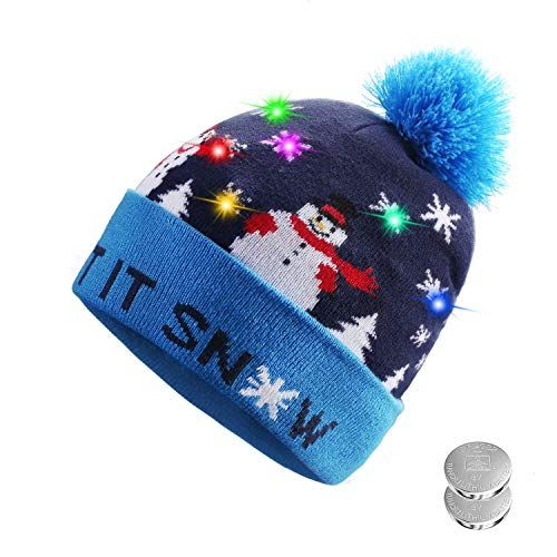Great for TAGVO LED Light Up Hat Beanie Knit Cap 65996f0d4a92