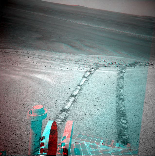 """oh Oppy, how you are going up! Sol 3479 anaglyph (Solander Point) - """"Courtesy NASA/JPL-Caltech"""" processing 2di7 & titanio44"""