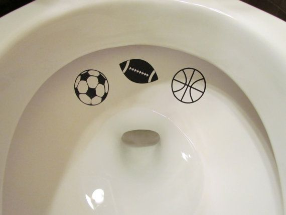 Boy's Sports Themed Toilet Targets by LilMrsCrafty on Etsy