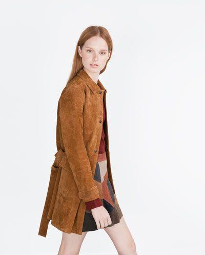check out b4954 f7613 Bild 2 von MANTEL AUS WILDLEDER von Zara   Styling/Fashion ...