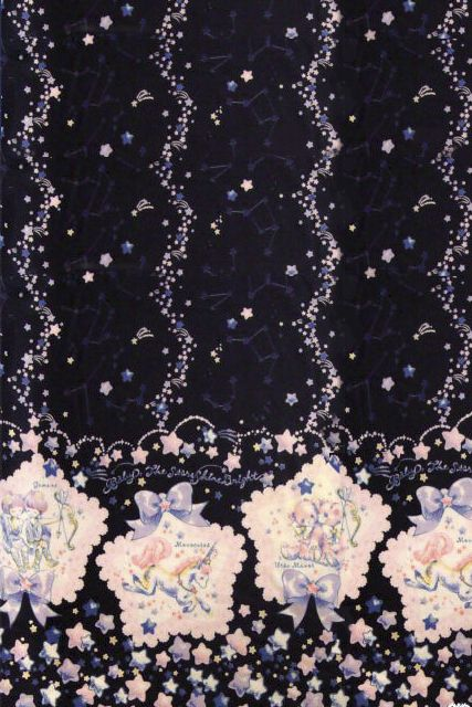 Baby The Stars Shine Bright :: キラキラ星座とコンペイトウのお星様柄ジャンパースカート // Twinkling Constellations and Star pattern confetti candy lolita print