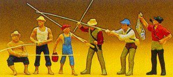 Preiser 10077 - Men fishing            6/