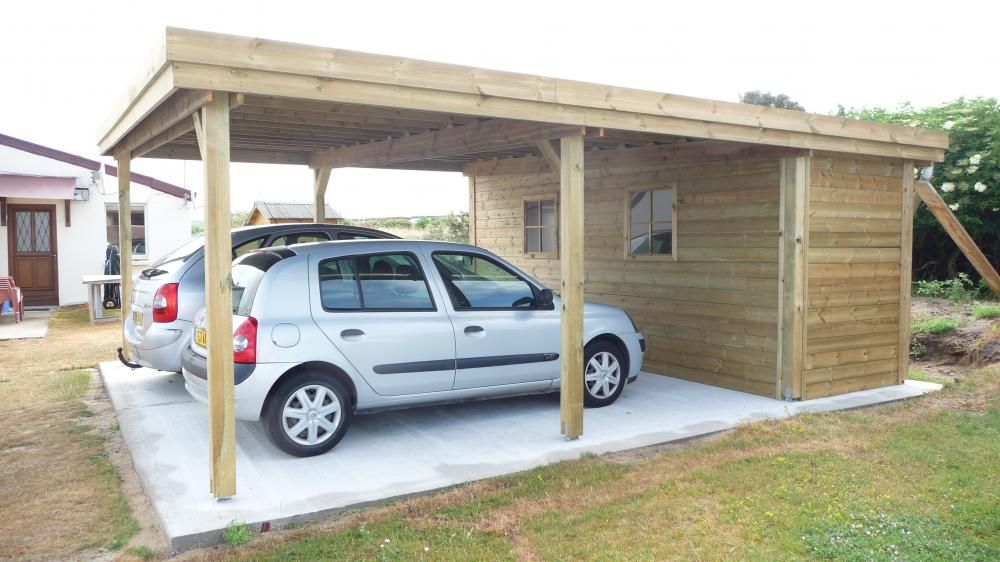 carport avec abri direct chalets carport en 2019. Black Bedroom Furniture Sets. Home Design Ideas