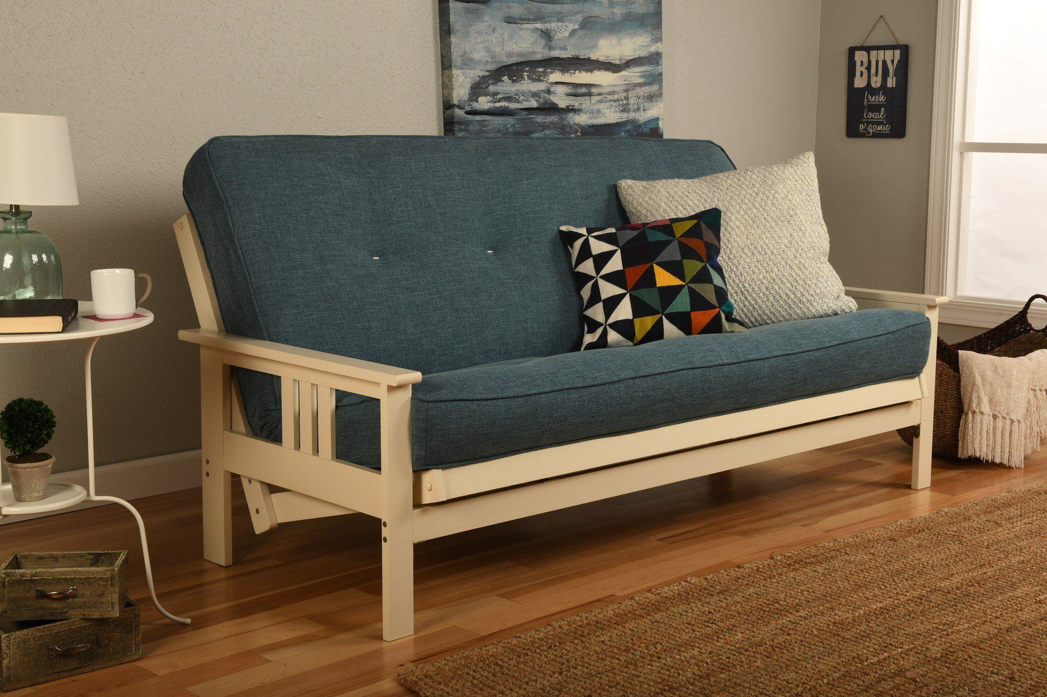 full monterey antique white futon linen aqua futon mattress want