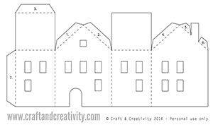 paper house lantern template  Day 5: Tea light paper houses (free template) - 5 creative ...