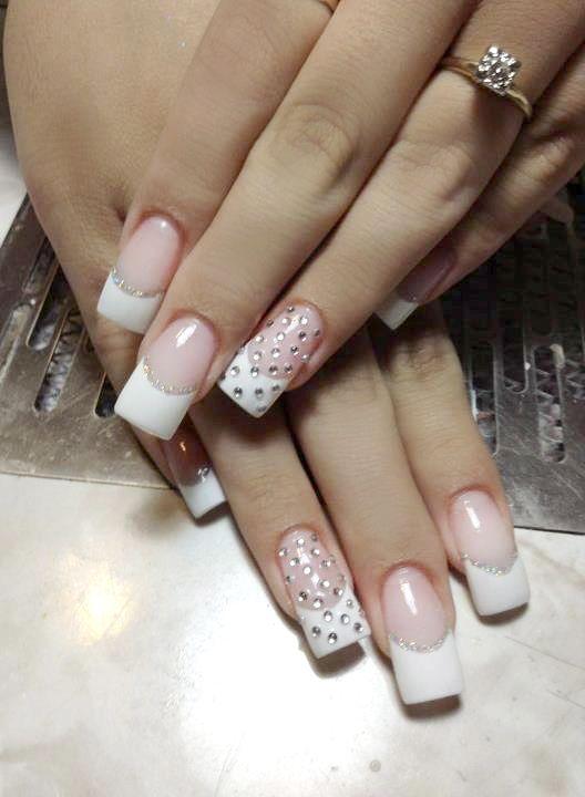 Bridal Nail Art - Nail Art Gallery Magazine http://nailartgallerymag ...