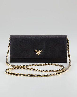 07169918da56 Prada Saffiano Wallet on a Chain