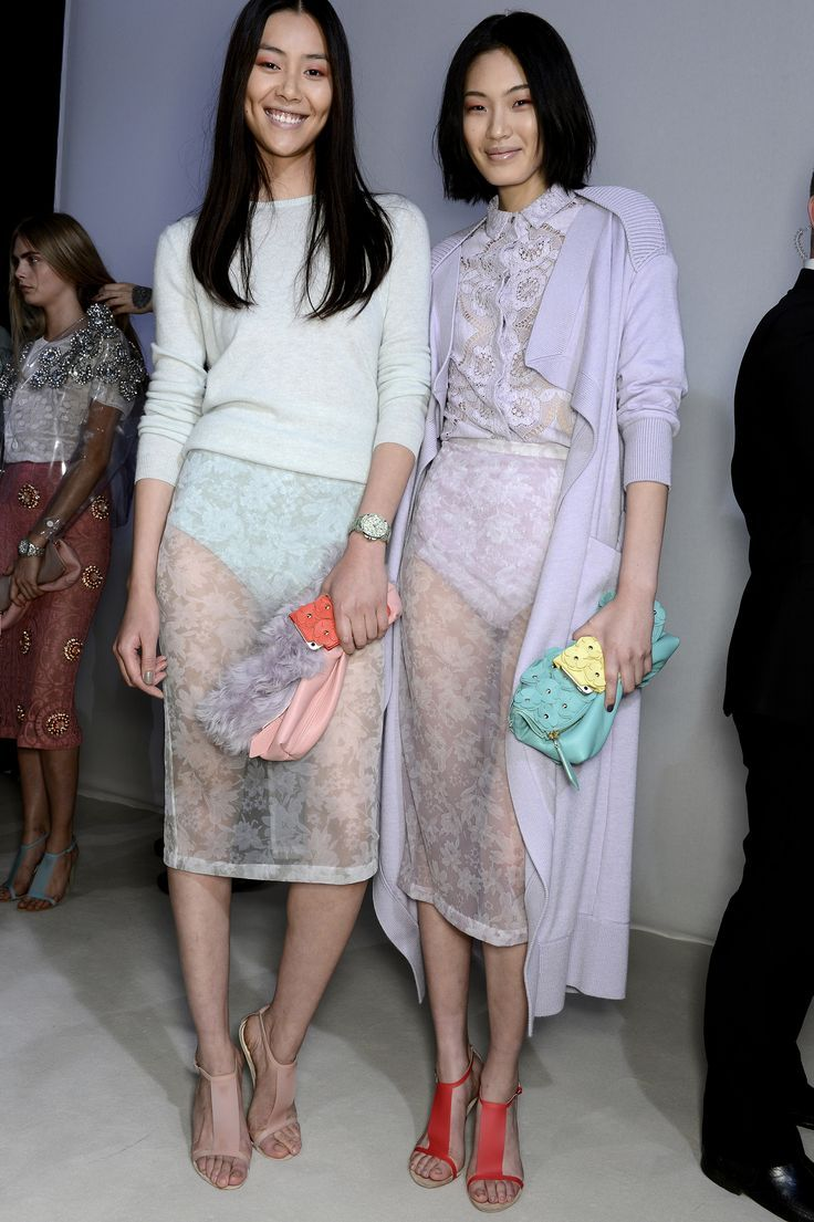 transparent skirt and pastel colors