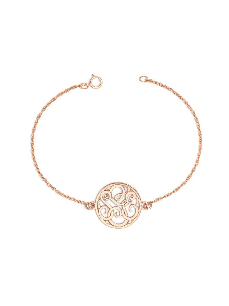 Circle Script Monogram Bracelet Ships 4 Weeks From Order Date Monogram Bracelet Fashion Bracelets Expensive Jewelry