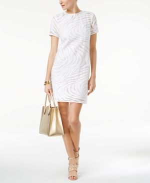 Michael Michael Kors Jacquard Shift Dress - White XL