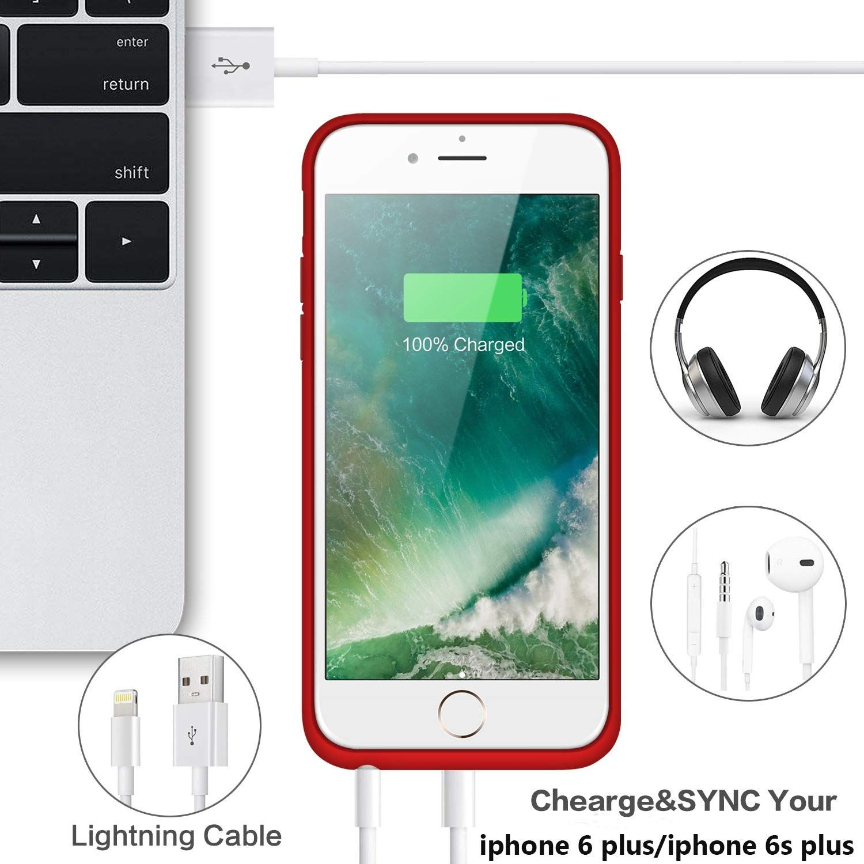 brand new 9ed4d b155e Amazon.com: Battery Case for iPhone 6s Plus/ 6 Plus Upgraded 8500mAh ...