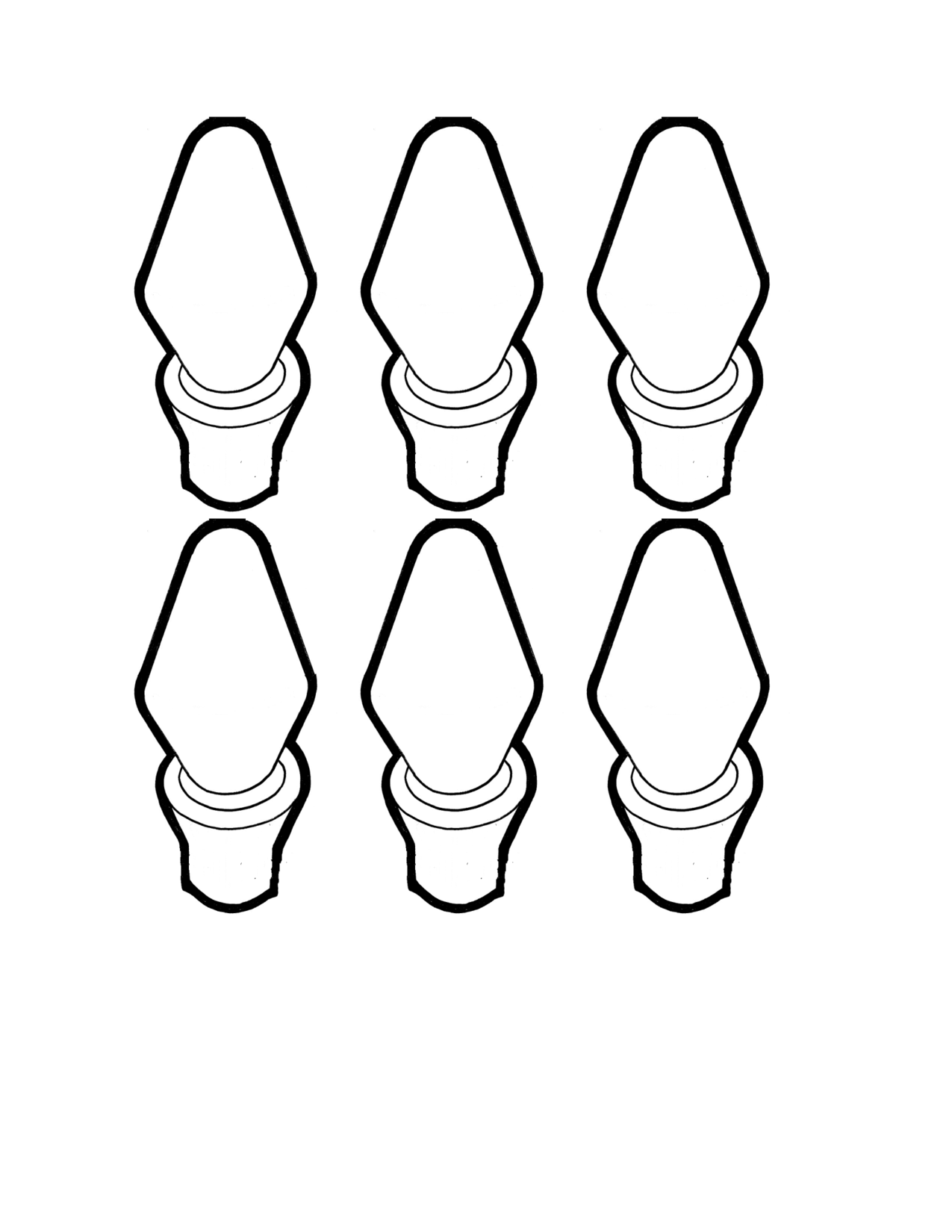 craft templates | Christmas light bulb template | lights | Pinterest ...