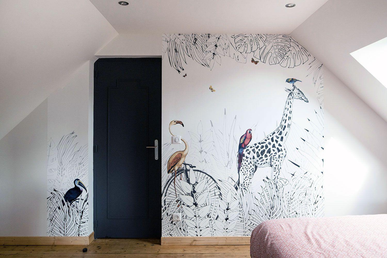 Papier Peint Chambre Mansardée notre papier peint panoramique sur-mesure metrozoo décore le