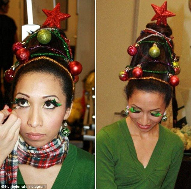 Hair Raising Trend Sees People Style Their Hair In To A Christmas Tree Christmas Tree Hair Whoville Hair Christmas Hair