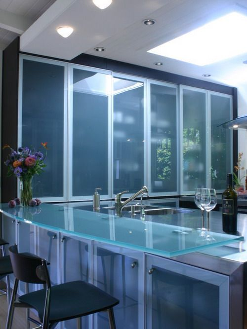 Wonderful Glass Kitchen Table for Small Kitchen