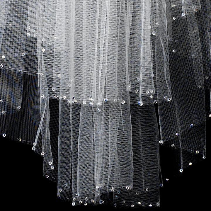 Long Bridal Veils With Swarovski Crystals Bridal Wedding