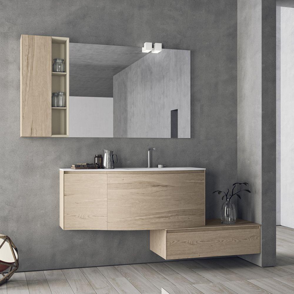 Composizione mobili bagno moderni sospesi calix novello for Mobili da bagno