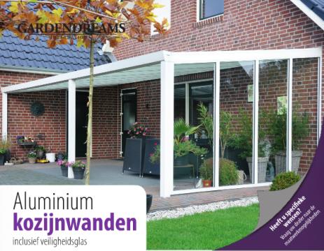 Veranda garden dreams aluminium kozijnwanden veranda en terrasoverkapping pinterest verandas for Buiten patio model