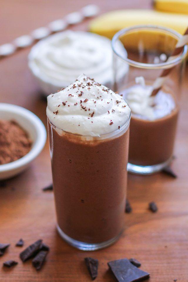 Healthy (Dairy-Free) Chocolate Shake Recipe #healthychocolateshakes