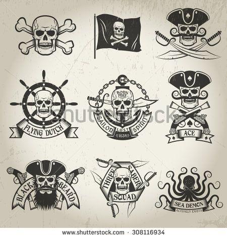 jolly roger tattoo flag , Pesquisa Google